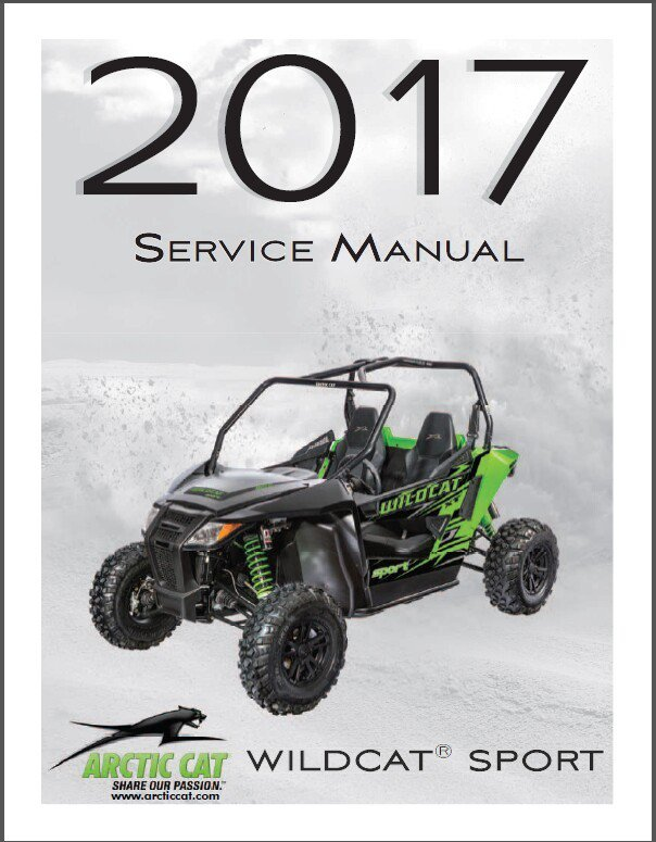 2017 Arctic Cat Wildcat Sport Service Repair Workshop Manual CD
