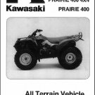 1997-2002 Kawasaki Prairie 400 4X4 ( KVF400 ) ATV Service Manual on a CD