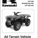 2002-2003 Kawasaki Prairie 650 ( KVF 650 ) 4x4 ATV Service Manual on a CD