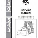 Bobcat 540 543 Skid Steer Loader Service Manual CD