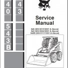 Bobcat 540 543 543B Skid Steer Loader Service Manual CD
