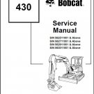 Bobcat 430 Compact Excavator Service Repair Manual on a CD