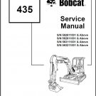 Bobcat 435 Compact Excavator Service Repair Manual on a CD
