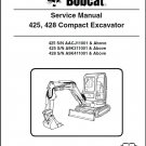 Bobcat 425 428 Compact Excavator Service Repair Manual on a CD