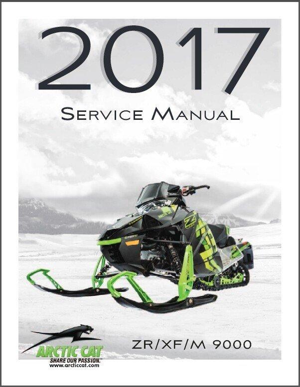 2017 Arctic Cat Bearcat / Lynx 2000 3000 7000 Snowmobile Service Manual CD