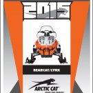2015 Arctic Cat Bearcat / Lynx 2000 5000 Snowmobile Service Manual CD