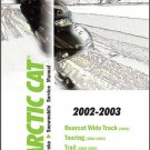 02-03 Arctic Cat Bearcat Wide Track Touring Trail Snowmobiles Service Manual CD