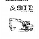 Liebherr A 902 ( A902 ) Excavator Operation / Maintenance Manual CD