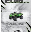 2016 Arctic Cat 500 / 700 TBX / TRV / MUD PRO / 1000 ATV Service Manual CD