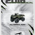 2016 Arctic Cat Alterra 400 ATV Service Manual CD
