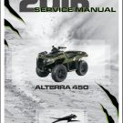 2016 Arctic Cat Alterra 450 ATV Service Manual CD