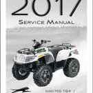 2017 Arctic Cat 500 / 700 TBX / Mud Pro / 1000 XT ATV Service Manual CD