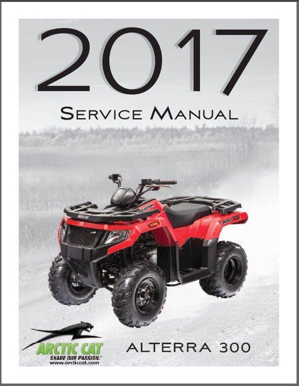 2017 Arctic Cat Alterra 300 ATV Service Manual CD