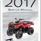 2017 Arctic Cat Alterra 300 ATV Service Manual CD