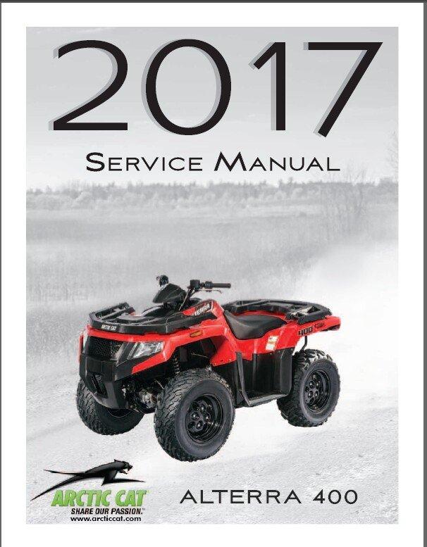 2017 Arctic Cat Alterra 400 ATV Service Manual CD