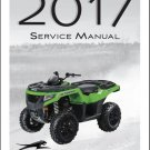 2017 Arctic Cat Alterra 700 / 700XT ATV Service Manual CD --- XT