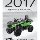 2017 Arctic Cat Alterra TRV 500 550 700 1000 Service Manual CD