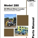 Gehl 280 All Wheel Steer Loader Parts Manual on a CD
