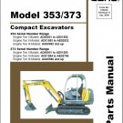 Gehl 353 / 373 Compact Excavator Parts Manual on a CD