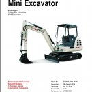 Terex TC35 Excavator Parts Manual CD - in English Deutsch Français Español