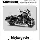 2011-2012 Kawasaki VULCAN 1700 VAQUERO / VN1700 VOYAGER Service Manual on a CD