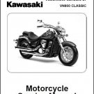 2006-2013 Kawasaki Vulcan 900 Classic ( VN900 ) Service Manual on a CD