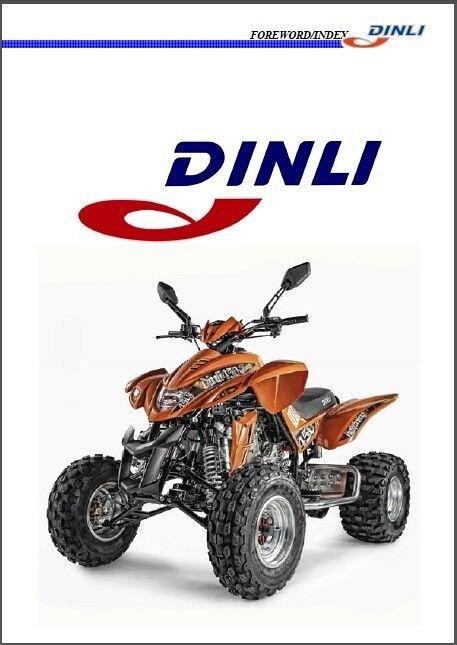 Dinli DL-904 Lightning 450 ATV Service Manual on a CD
