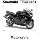 2008-2009-2020-2011 Kawasaki Ninja 1400 ( ZX-14 ZZR1400 ABS ) Service Manual CD