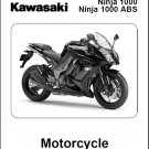 2011-2012-2013 Kawasaki Ninja 1000 - Z1000SX ABS Service Manual on a CD