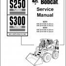 Bobcat S250 Turbo / S300 Turbo Skid Steer Loader Service Manual on a CD