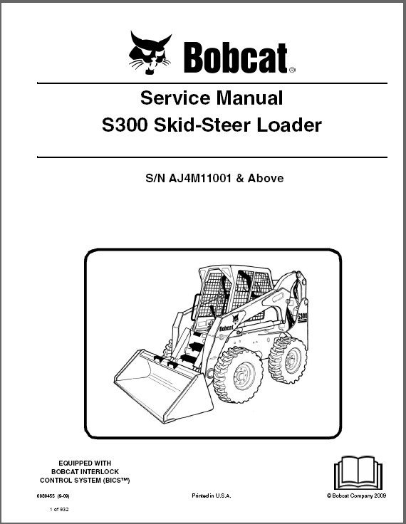 Bobcat S300 Skid Steer Loader Service Repair Manual on a CD