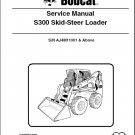 Bobcat S300 Skid Steer Loader Service Repair Manual on a CD