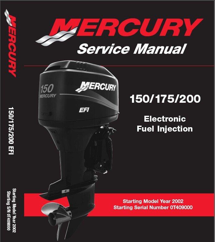 Mercury 150 - 175 - 200 EFI Outboard Motors Service Manual CD