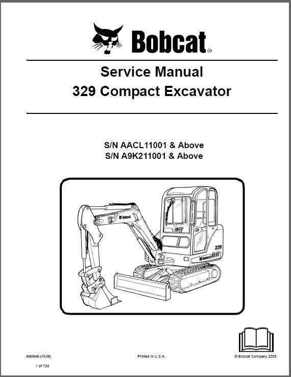 Bobcat 329 Compact Excavator Service Repair Manual on a CD