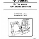 Bobcat 329 Compact Excavator Service Repair Manual on a CD