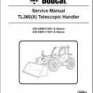Bobcat TL360 Telescopic Handler Service Manual on a CD