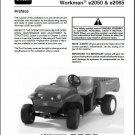 TORO Workman e2050 & e2065 UTV Utility Vehicle Service Repair Manual CD