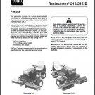 TORO Reelmaster 216 / 216-D Riding Mower Service Manual on a CD