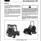 TORO Groundsmaster 360 Ride-On Mower Service Manual on a CD