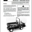 TORO Workman 3000 / 4000 Series UTV Utility Vehicles Service Repair Manual CD
