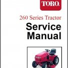 Toro 260 Series Lawn & Garden Tractor Repair Service Manual CD - 264 265 267 268