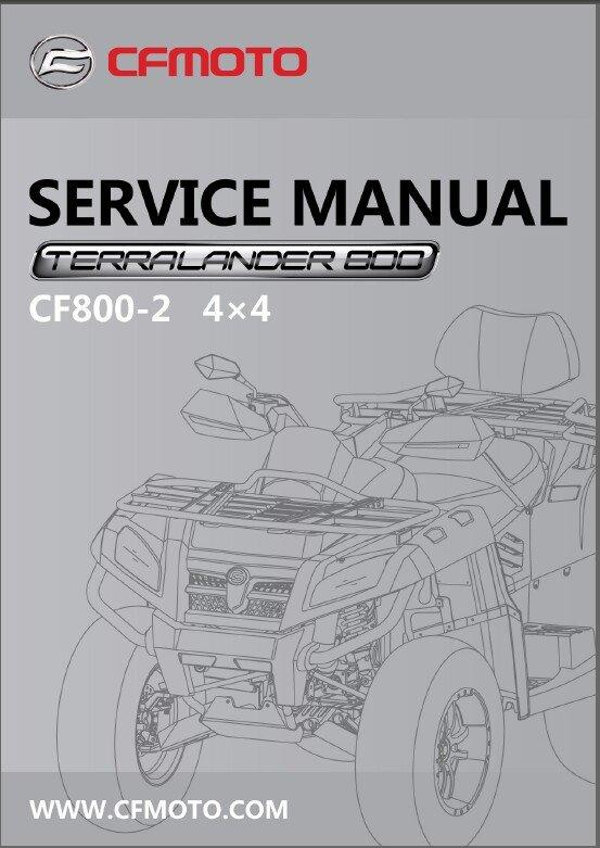 CFMoto X8 CF800-2 Terralander 800 4X4 ATV Service Repair Manual CD