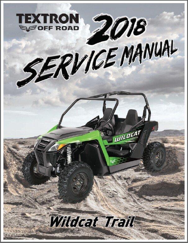 2018 Arctic Cat Wildcat Trail Service Manual on a CD