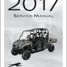 2017 Arctic Cat HDX Crew UTV Service Manual on a CD