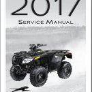 2017 Arctic Cat VLX 700 ATV Service Manual on a CD