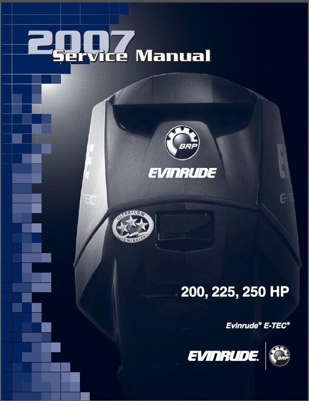 Evinrude E-TEC 200 225 250 HP Outboard Motor Service Manual CD