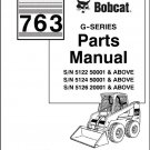 Bobcat 763 G-Series Skid Steer Loader Parts Manual on a CD
