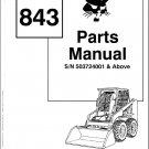 Bobcat 843 Skid Steer Loader Parts Manual on a CD