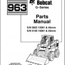 Bobcat 963 G-Series Skid Steer Loader Parts Manual on a CD