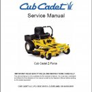 Cub Cadet Z Force Zero-Turn Riding Mower Service Manual on a CD
